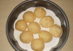 Пышки на сливках в духовке - рецепт пошаговый с фото