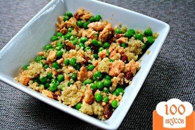 Фото рецепта: «Салат с лососем и киноа»