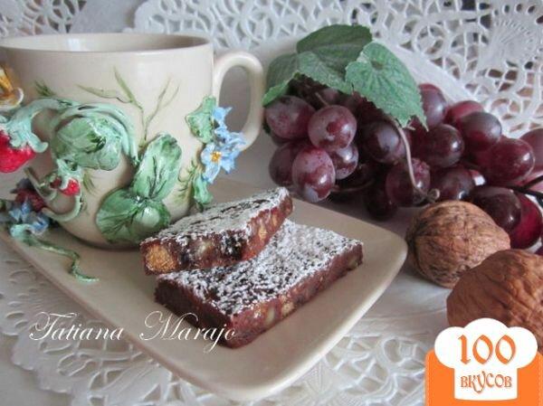 Фото рецепта: «Шоколадные пластинки с сухофруктами...»