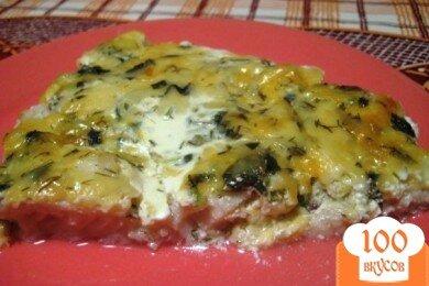 Фото рецепта: «Рыба в сливочно-сырном соусе»