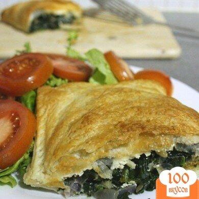 Фото рецепта: «Пирог с шпинатом и сыром»