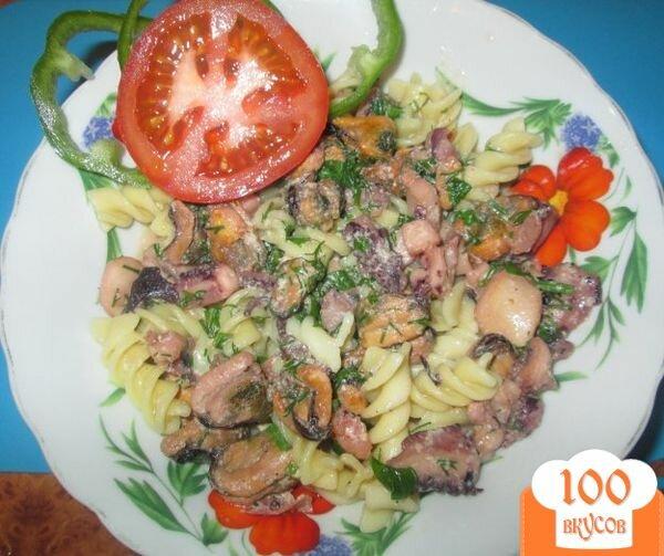 Фото рецепта: «Соус из морского коктейля к спагетти»