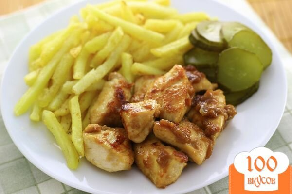 Фото рецепта: «Курица в коньяке»