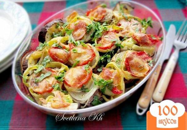 Фото рецепта: «Баклажаны с мясом и овощами»