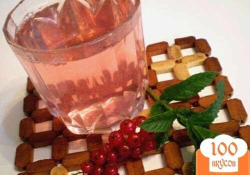Фото рецепта: «Компот из красной смородины и свежей мяты»
