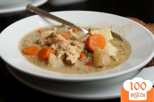 Фото рецепта: «Овощной суп с курицей»