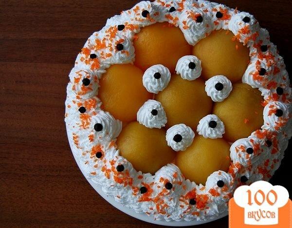 Фото рецепта: «Торт с консервированными персиками»