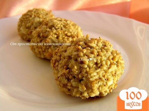 Фото рецепта: «Печенье гхуриба с кунжутом»