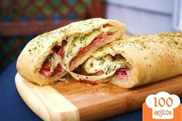 Фото рецепта: «Стромболи (пицца-рулет)»