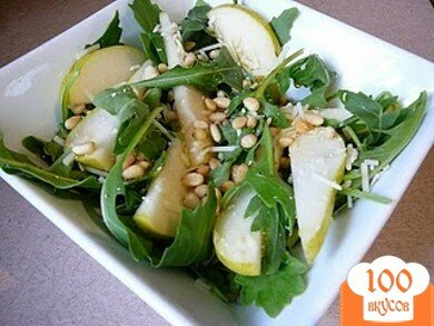 Фото рецепта: «Грушевый салат с рукколой»