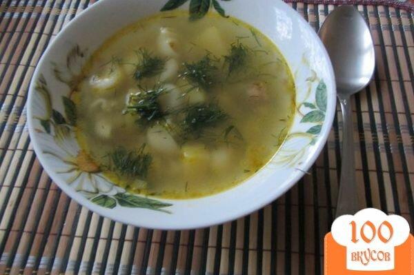 Фото рецепта: «Макаронный суп с куриными сердечками»