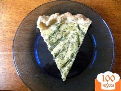 Фото рецепта: «Киш с беконом, спаржей и сыром»