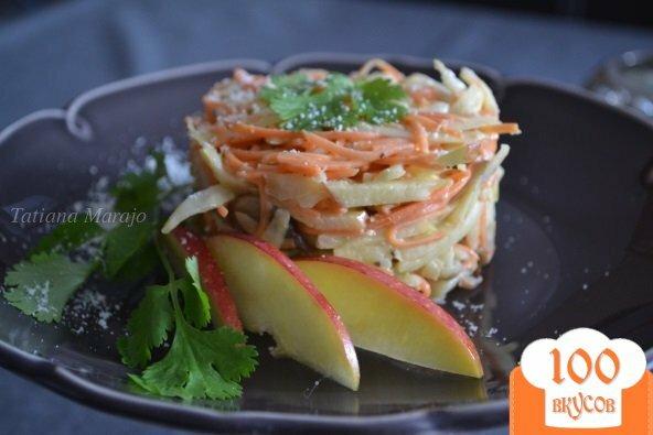 Фото рецепта: «Салат из сельдерея, моркови и грибов»