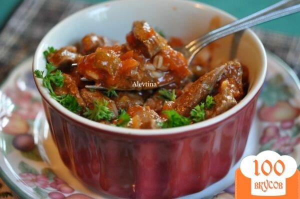 Фото рецепта: «Говядина с сальсой на сковороде»
