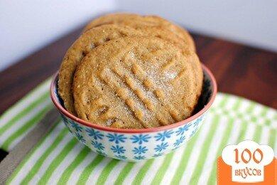 Фото рецепта: «Домашнее печенье с арахисовым маслом»