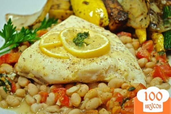 Фото рецепта: «Палтус с овощами в духовке»