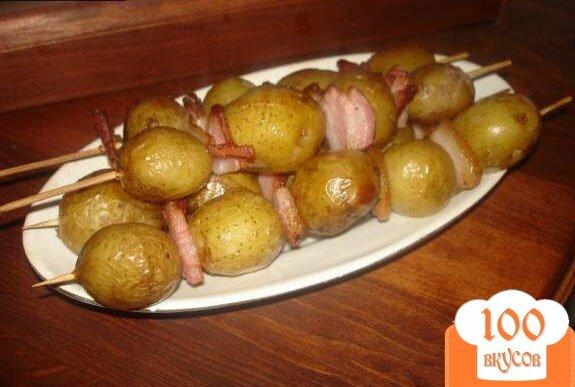 Фото рецепта: «Картофельные шашлычки»