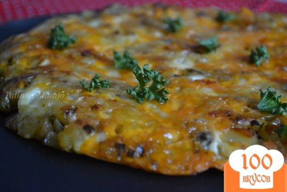 Фото рецепта: «Картофельная лепешка с сыром»