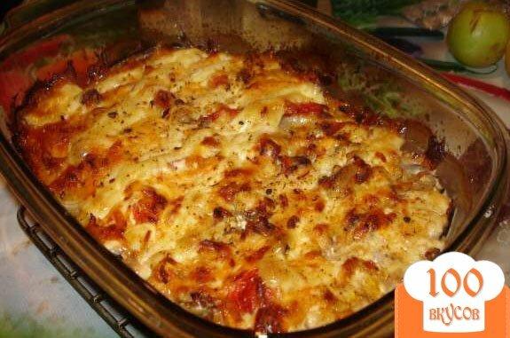 Фото рецепта: «Соте с баклажанами и мясом»