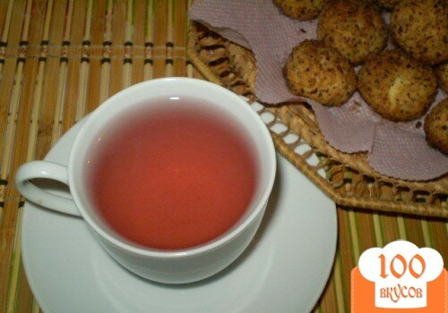Фото рецепта: «Компот фруктовый с мелиссой и мятой»
