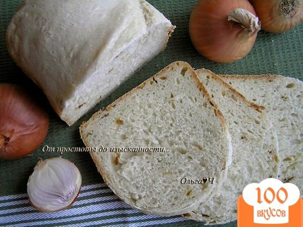 Фото рецепта: «Хлеб с жареным луком»