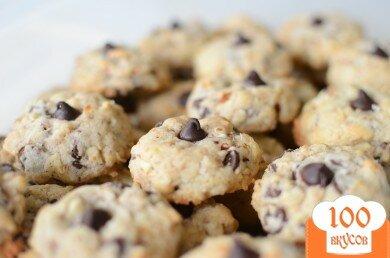 Фото рецепта: «Миндальное печенье с шоколадом»