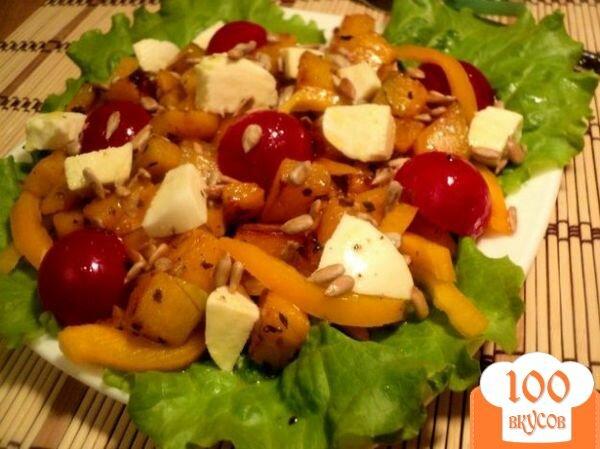 Фото рецепта: «Салат из тыквы с моцареллой»