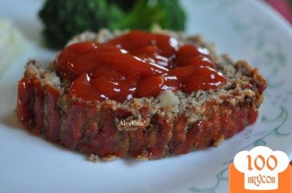 Фото рецепта: «Мясной хлеб с индюшатиной и грибами»