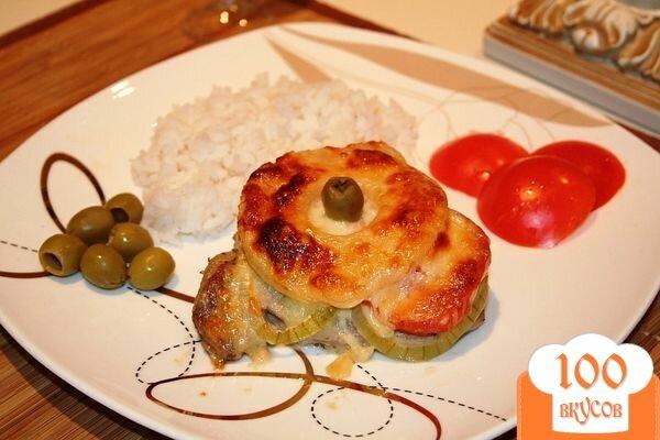 Фото рецепта: «Свинина, запечённая с ананасом»