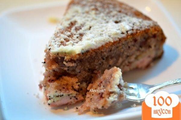 Фото рецепта: «Быстрый кекс с маком и вареньем»