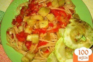 Фото рецепта: «Паста с кабачками,перцем, помидорами»