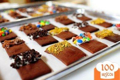 Фото рецепта: «Шоколадное печенье с глазурью»