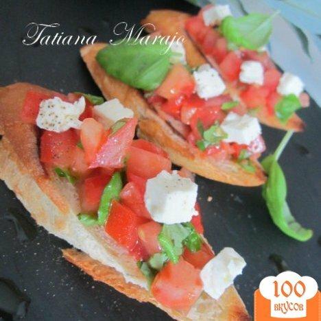 Фото рецепта: «Брушетта..вкус Средиземноморья»