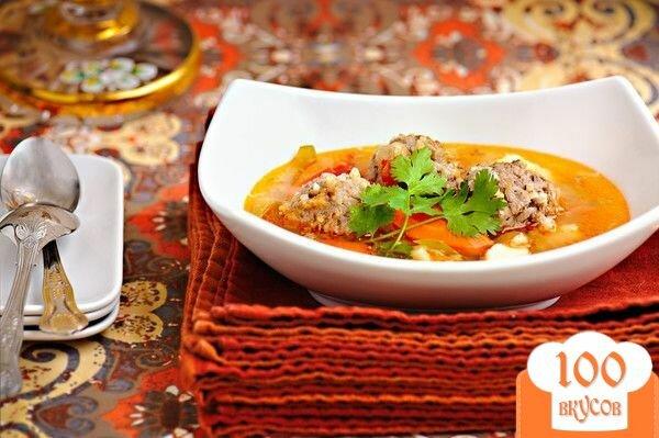 Фото рецепта: «Суп с мясными фрикадельками»