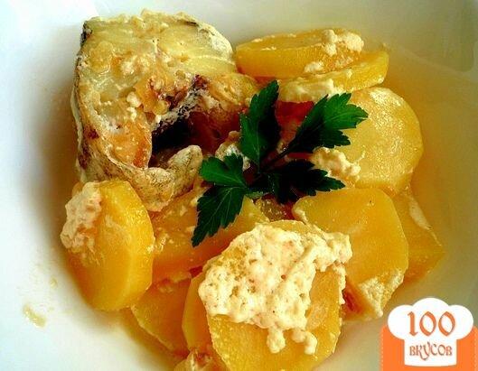 Фото рецепта: «Минтай в духовке с картофелем»