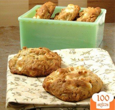 Фото рецепта: «Овсяное печенье с белым шоколадом»