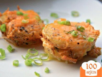 Фото рецепта: «Запеченный картофель с ветчиной и сыром»