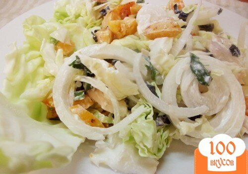 Фото рецепта: «Овощной салат с абрикосами»