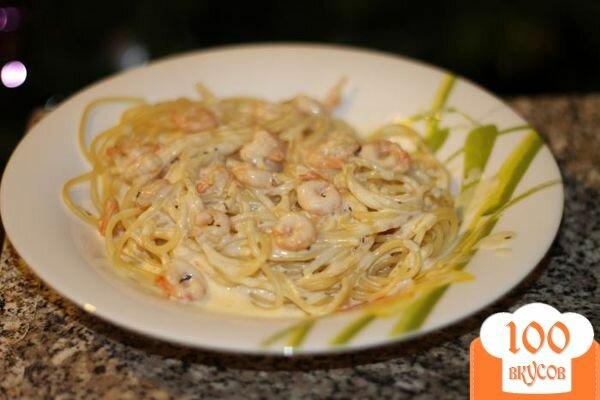 Фото рецепта: «Паста с креветками в сливочном соусе»