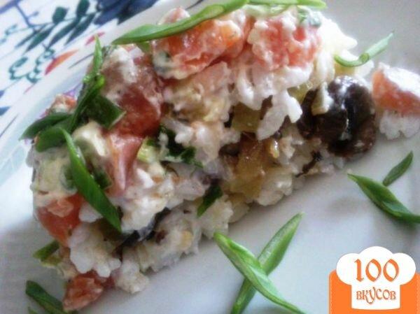 Фото рецепта: «Рисовый салат с красной рыбой»