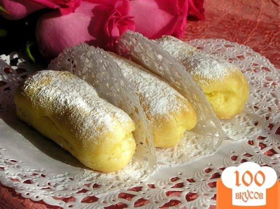 Фото рецепта: «Эклеры с заварным лимонным кремом»