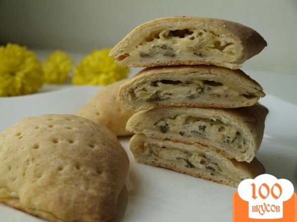 Фото рецепта: «Закрытые хачапури»