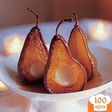 Фото рецепта: «Печеные груши с голубым сыром»