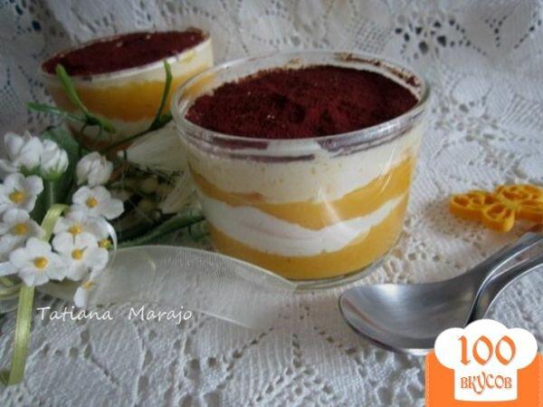 Фото рецепта: «Десерт с экзотическими фруктами»