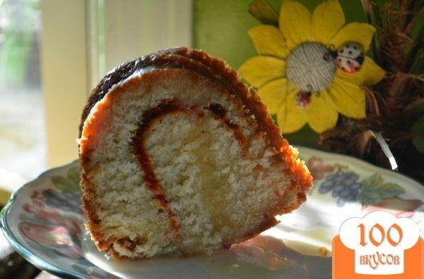 Фото рецепта: «Кекс с медовой- апельсиновой глазурью»