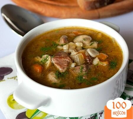 Фото рецепта: «Суп с грибами и мясом»