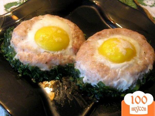Фото рецепта: «Мясные гнезда»