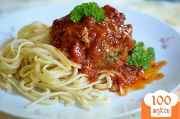 Фото рецепта: «Фрикадельки с сыром по-итальянски»