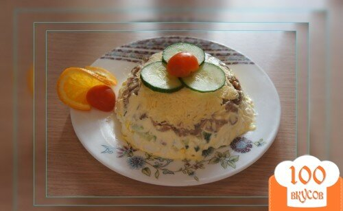 Фото рецепта: «Салат с куриными желудочками»
