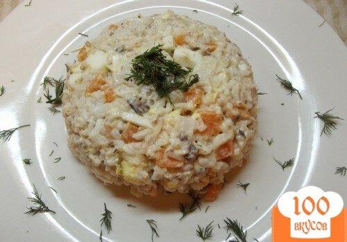 Фото рецепта: «Рыбный салат с рисом»